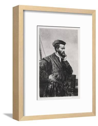 Jacques Cartier, French Explorer-Middle Temple Library-Framed Art Print