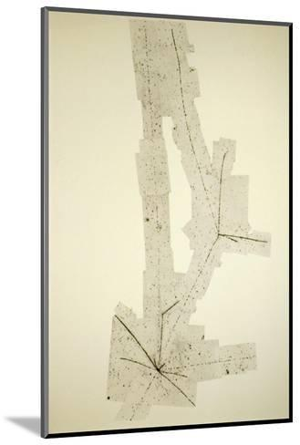 Emulsion Photo of a Cosmic Ray Pion-C. Powell-Mounted Giclee Print