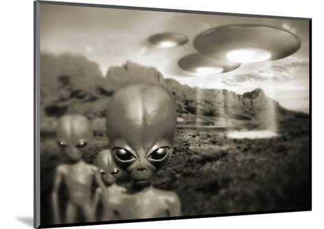 Alien Contact In the 1940s, Artwork-Detlev Van Ravenswaay-Mounted Giclee Print