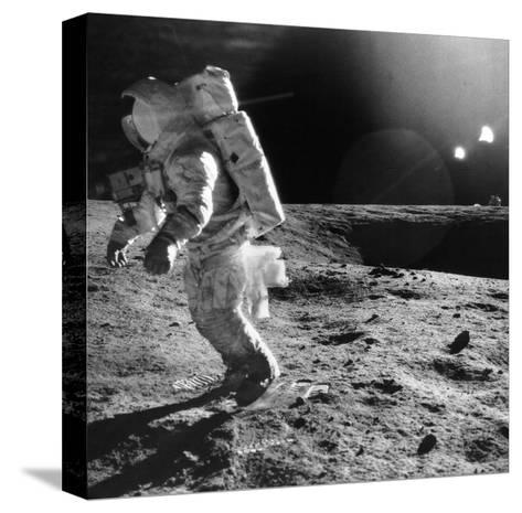 Apollo 12 Astronaut on the Moon--Stretched Canvas Print