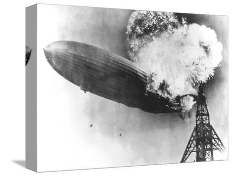 Hindenburg Crash, 1937-us Navy-Stretched Canvas Print