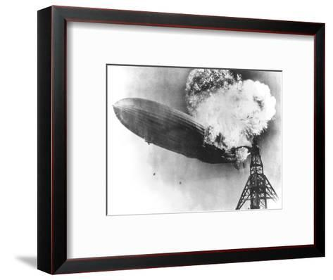 Hindenburg Crash, 1937-us Navy-Framed Art Print