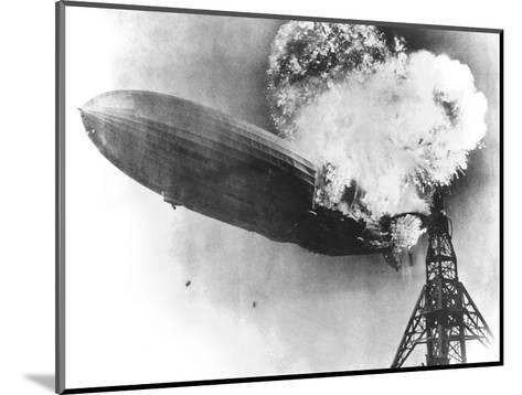 Hindenburg Crash, 1937-us Navy-Mounted Giclee Print