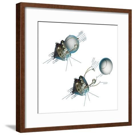 Vostok 1 Capsule Separation, Artwork-Detlev Van Ravenswaay-Framed Art Print