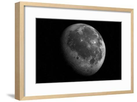 The Moon From Space-Detlev Van Ravenswaay-Framed Art Print