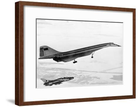 Tu-144, the First Supersonic Jet , 1969-Ria Novosti-Framed Art Print
