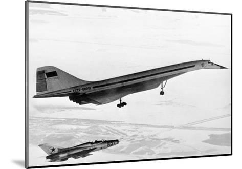 Tu-144, the First Supersonic Jet , 1969-Ria Novosti-Mounted Giclee Print