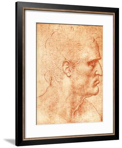 Man's Head-Sheila Terry-Framed Art Print