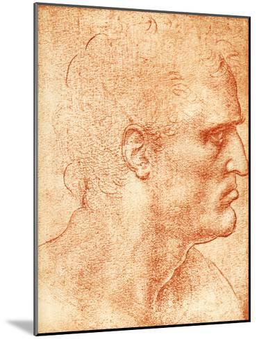 Man's Head-Sheila Terry-Mounted Giclee Print