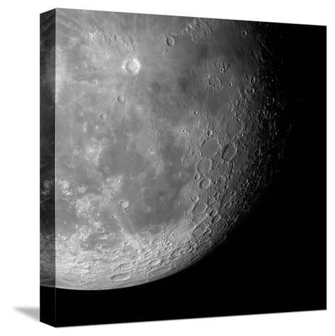 The Moon From Space, Artwork-Detlev Van Ravenswaay-Stretched Canvas Print
