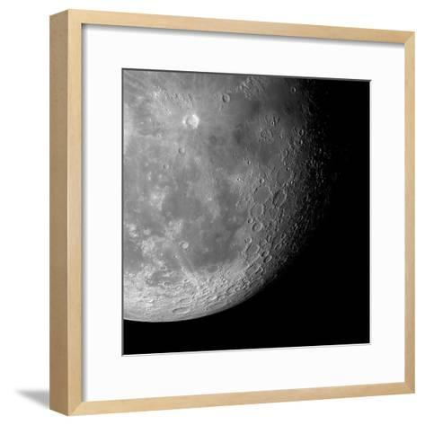 The Moon From Space, Artwork-Detlev Van Ravenswaay-Framed Art Print