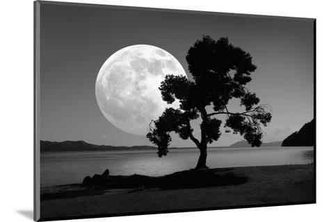 Moon Rising Over the Sea-Detlev Van Ravenswaay-Mounted Giclee Print
