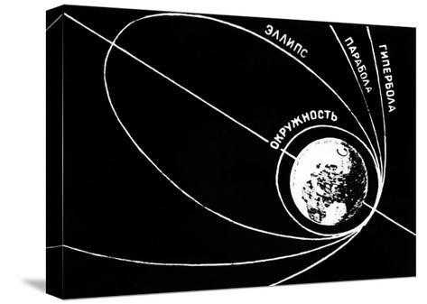 Orbit of Sputnik 1, Soviet 1957 Diagram-Ria Novosti-Stretched Canvas Print