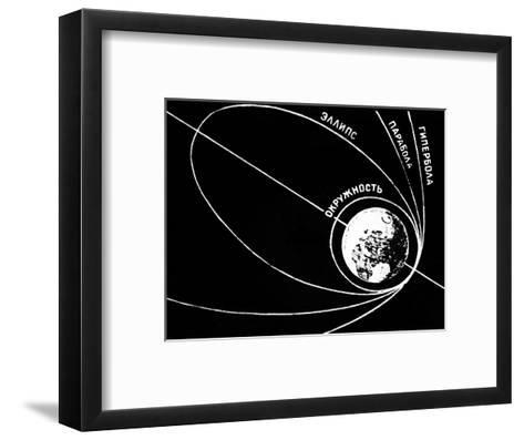 Orbit of Sputnik 1, Soviet 1957 Diagram-Ria Novosti-Framed Art Print