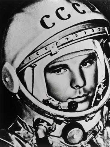 Yuri Gagarin-Ria Novosti-Stretched Canvas Print