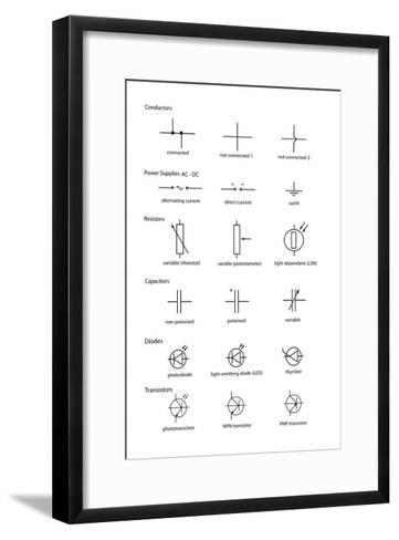 Standard Electrical Circuit Symbols-Sheila Terry-Framed Art Print