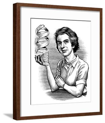 Rosalind Franklin, British Chemist-Bill Sanderson-Framed Art Print