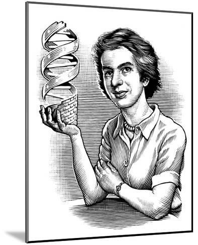 Rosalind Franklin, British Chemist-Bill Sanderson-Mounted Giclee Print