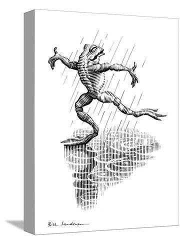 Dancing In the Rain, Conceptual Artwork-Bill Sanderson-Stretched Canvas Print