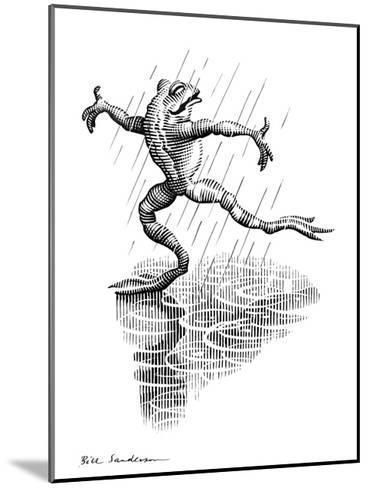 Dancing In the Rain, Conceptual Artwork-Bill Sanderson-Mounted Giclee Print