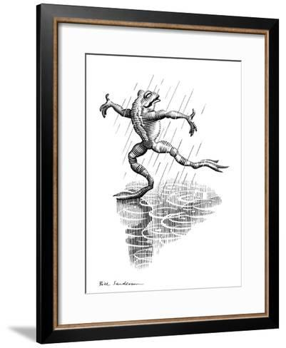 Dancing In the Rain, Conceptual Artwork-Bill Sanderson-Framed Art Print