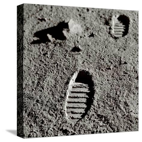 Astronaut Footprints on the Moon-Detlev Van Ravenswaay-Stretched Canvas Print