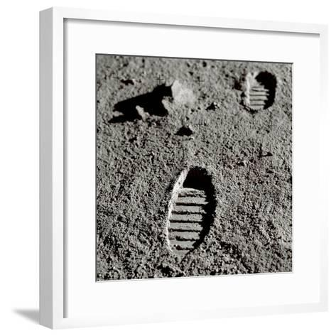 Astronaut Footprints on the Moon-Detlev Van Ravenswaay-Framed Art Print