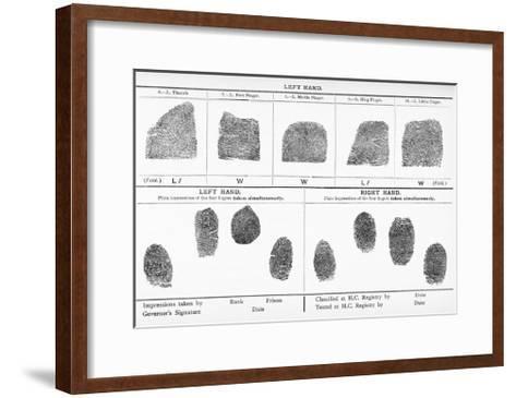 Fingerprints, Historical Image-Middle Temple Library-Framed Art Print