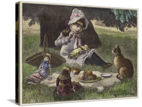 A Garden Party--Stretched Canvas Print