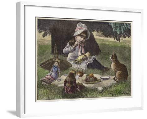 A Garden Party--Framed Art Print