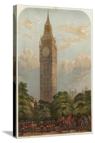 The Clock Tower--Stretched Canvas Print