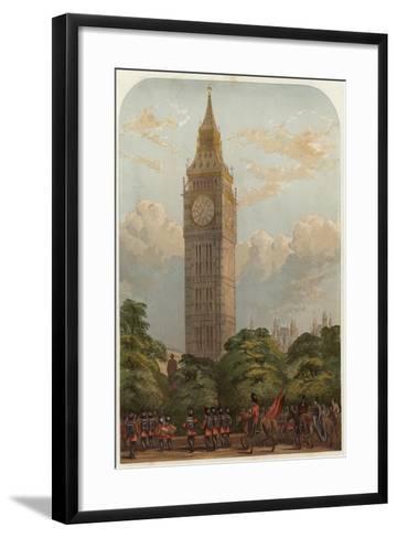 The Clock Tower--Framed Art Print