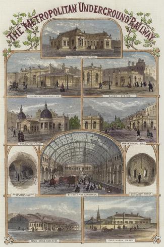 The Metropolitan Underground Railway--Stretched Canvas Print