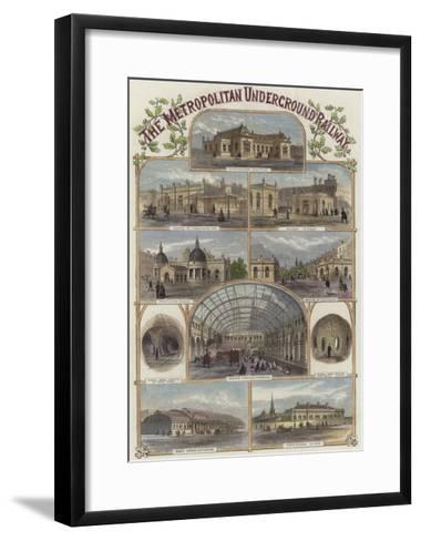 The Metropolitan Underground Railway--Framed Art Print
