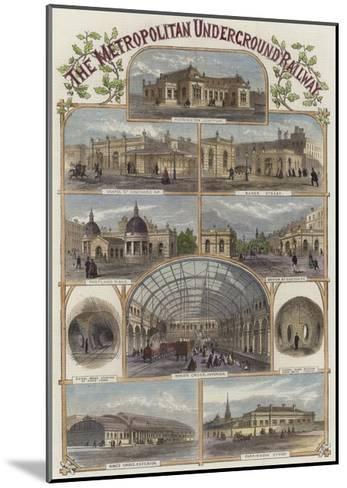 The Metropolitan Underground Railway--Mounted Giclee Print