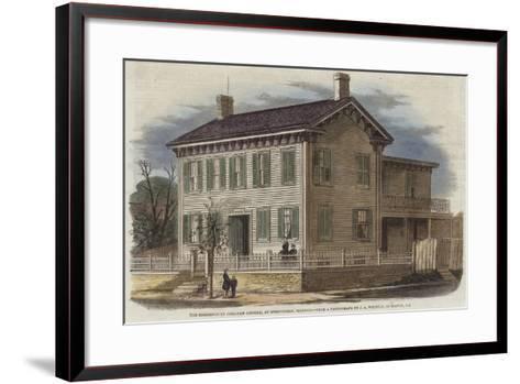 The Residence of Abraham Lincoln--Framed Art Print