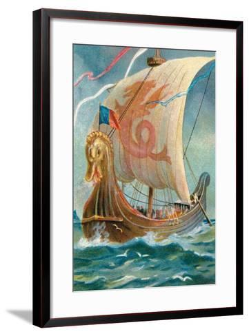 Anglo-Saxon Ship--Framed Art Print