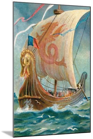 Anglo-Saxon Ship--Mounted Giclee Print