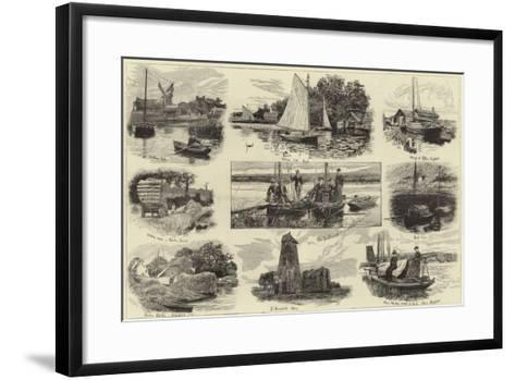 A Cruise on the Norfolk Broads--Framed Art Print