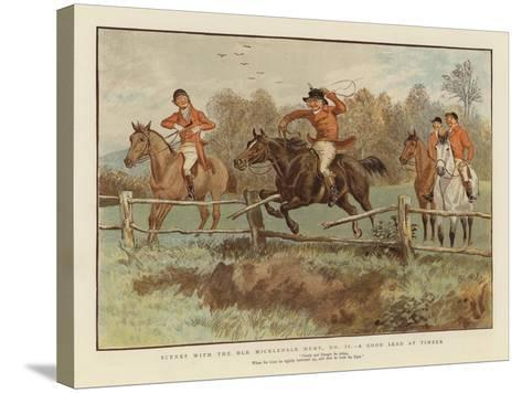 Scenes with the Old Mickledale Hunt--Stretched Canvas Print