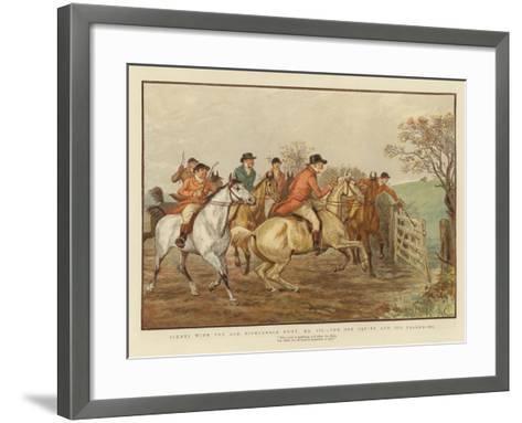 Scenes with the Old Mickledale Hunt--Framed Art Print