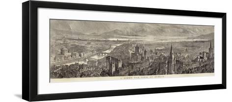 A Bird's Eye View of Dublin--Framed Art Print