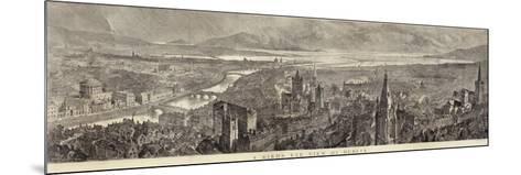 A Bird's Eye View of Dublin--Mounted Giclee Print