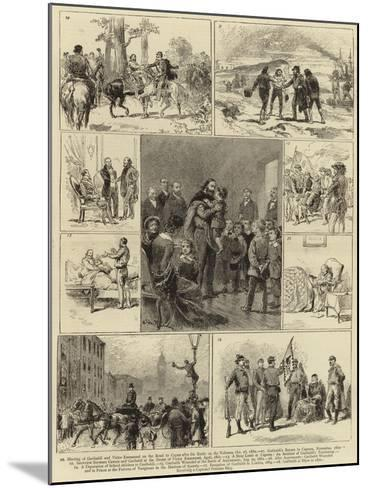 The Life of Guiseppe Garibaldi--Mounted Giclee Print