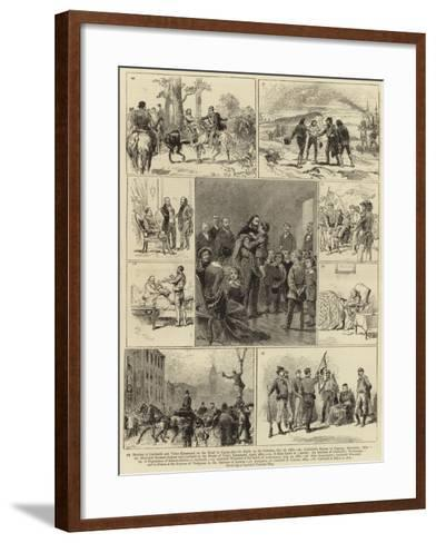 The Life of Guiseppe Garibaldi--Framed Art Print