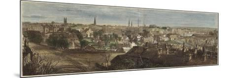 Panorama of Richmond--Mounted Giclee Print
