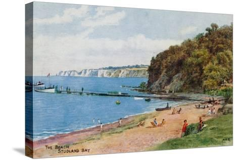 The Beach, Studland Bay-Alfred Robert Quinton-Stretched Canvas Print