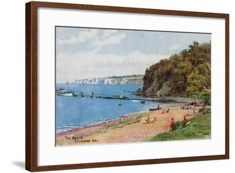 The Beach, Studland Bay-Alfred Robert Quinton-Framed Art Print