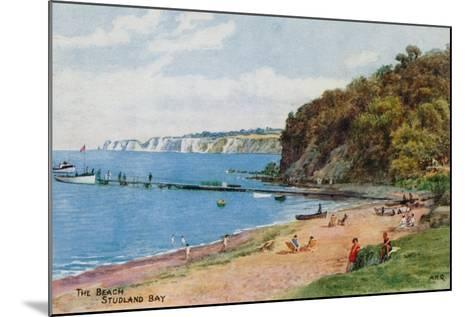 The Beach, Studland Bay-Alfred Robert Quinton-Mounted Giclee Print
