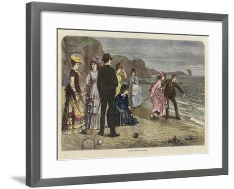Croquet under Difficulties--Framed Art Print